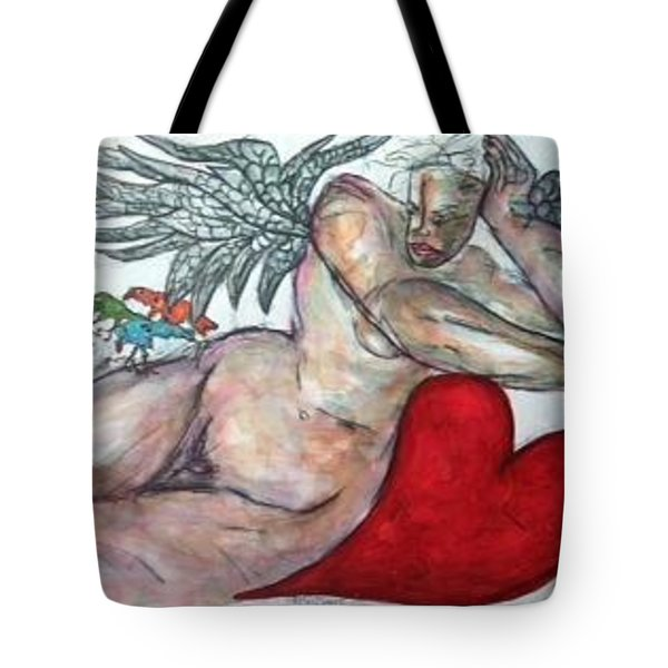Angel Of Serenity Tote Bag by Suzanne Macdonald