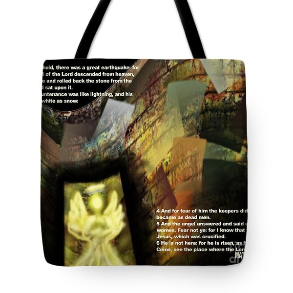 Angel Of The Lord Tote Bag by Wayne Cantrell