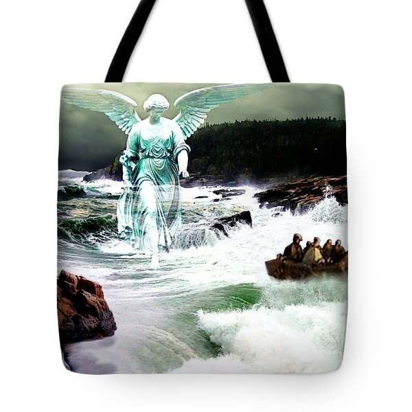 Angel Of The Storm  Tote Bag by Lianne Schneider