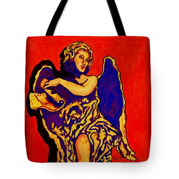 Angel On Red Tote Bag