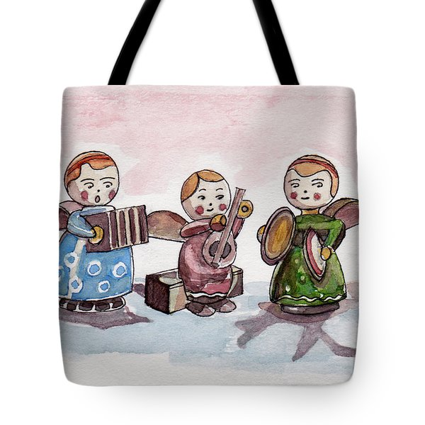 Angel Orchestra Tote Bag by Julie Maas