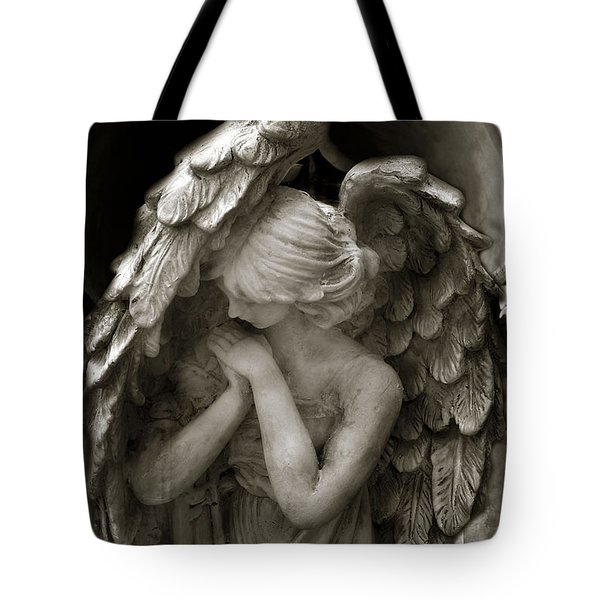 Angel Photography - Dreamy Spiritual Angel Art - Guardian Angel Art In Prayer  Tote Bag