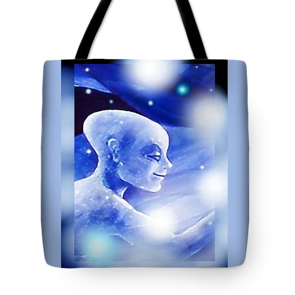 Tote Bag featuring the painting Angel Portrait by Hartmut Jager