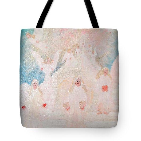 Angel Stairway Tote Bag