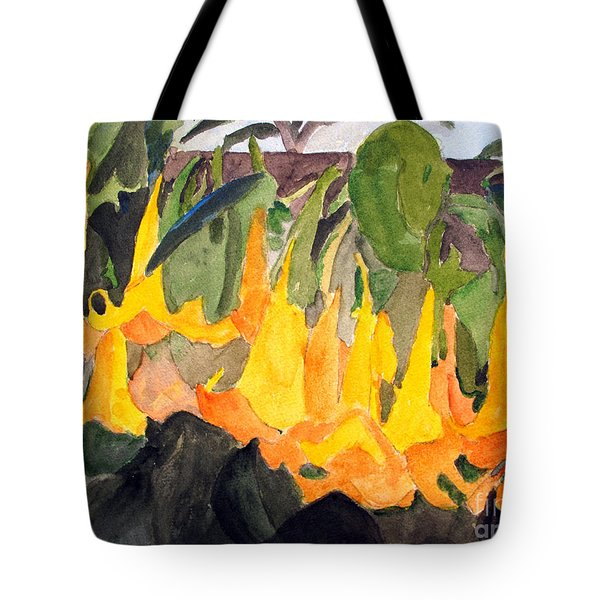 Angel Trumpets Tote Bag by Sandy McIntire
