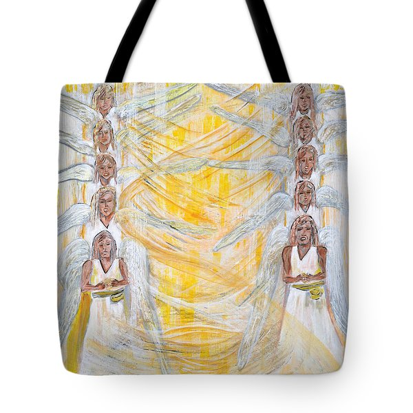 Angel Winds Flames Of Fire Tote Bag by Cassie Sears