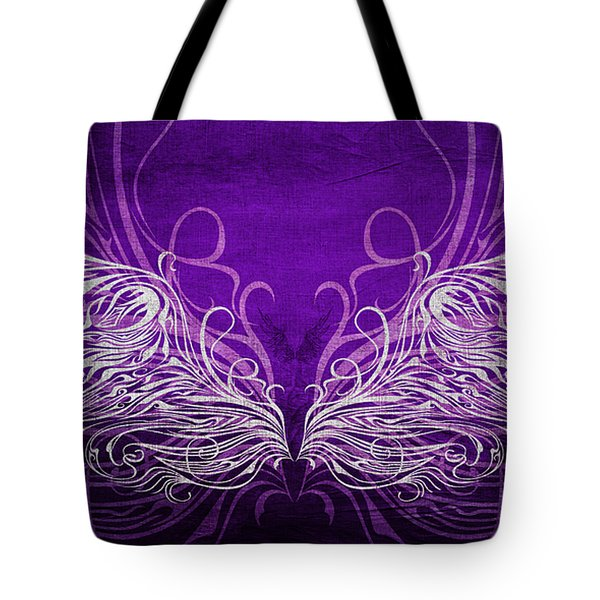 Angel Wings Royal Tote Bag