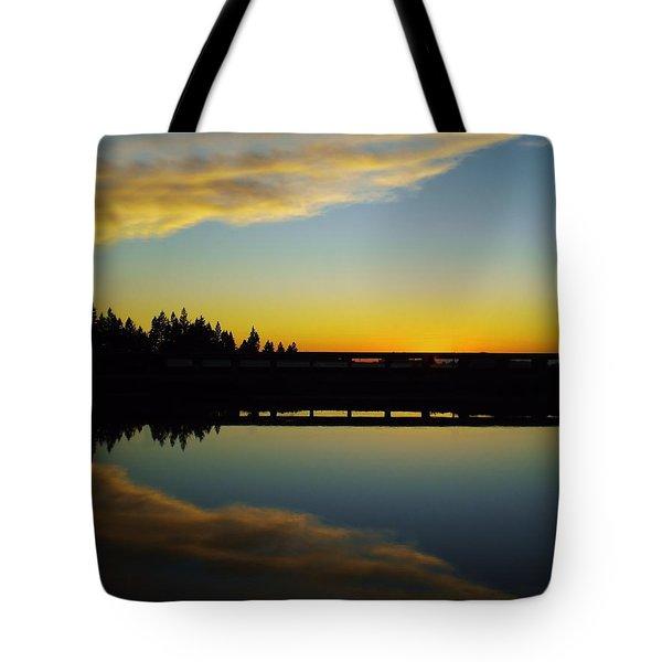 Angel Wings Sunset Tote Bag