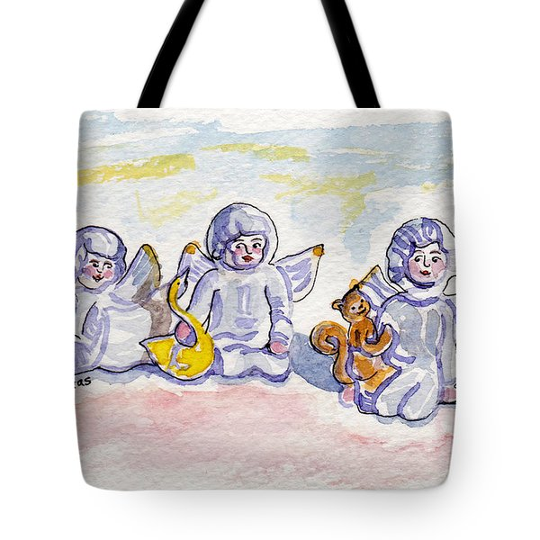 Tote Bag featuring the pastel Angel Wishes by Julie Maas