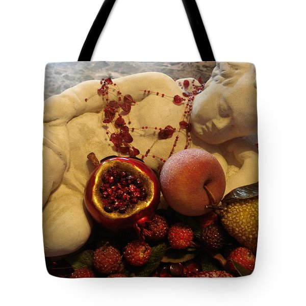 Angel With Fruit Tote Bag