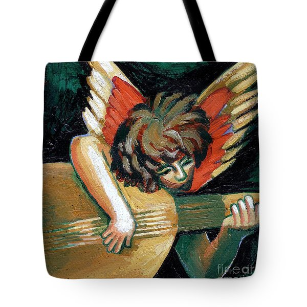 Angel With Lute Tote Bag