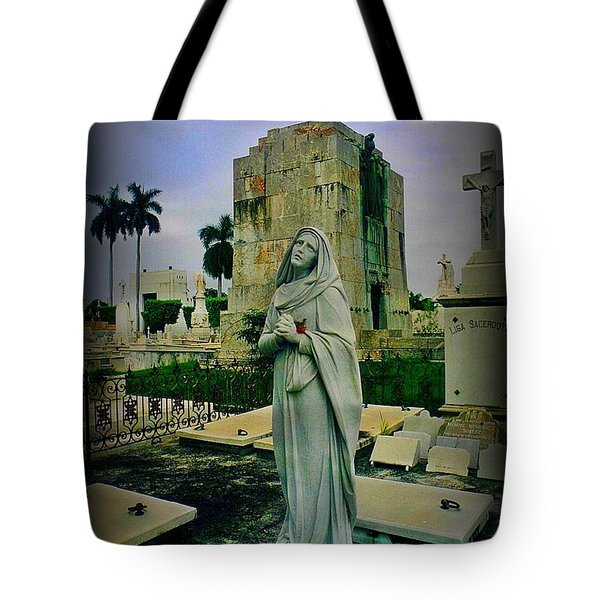 Angel With Rose Tote Bag by John Malone