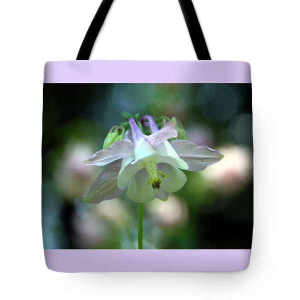 Angelic Aquilegia Tote Bag by  Andrea Lazar