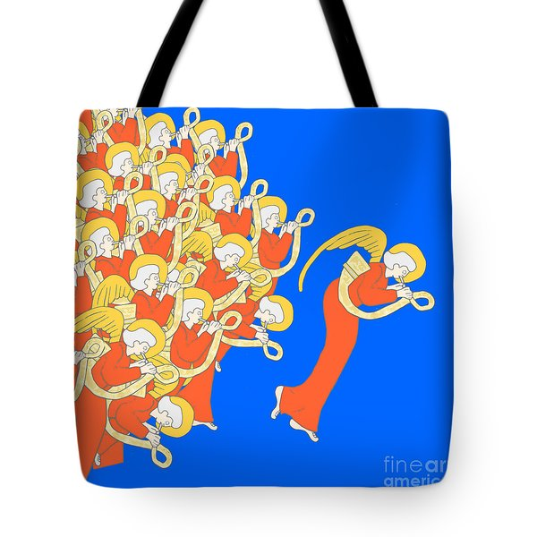 Angelic Chorale Of Horns Tote Bag