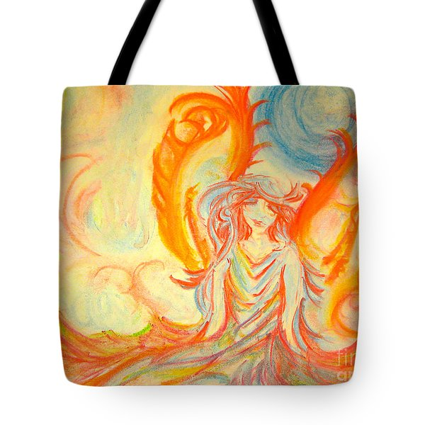 A Rainbow Of Thought Tote Bag by Heather  Hiland