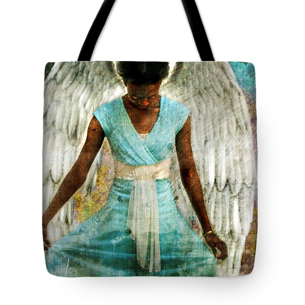 Tote Bag featuring the photograph Angelic Thanks by Nada Meeks