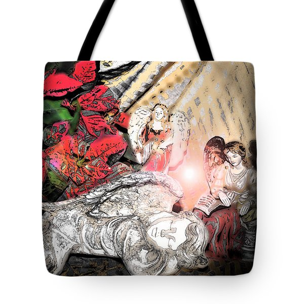Angels And Christmas - Abstract 1 Tote Bag by Janice Adomeit