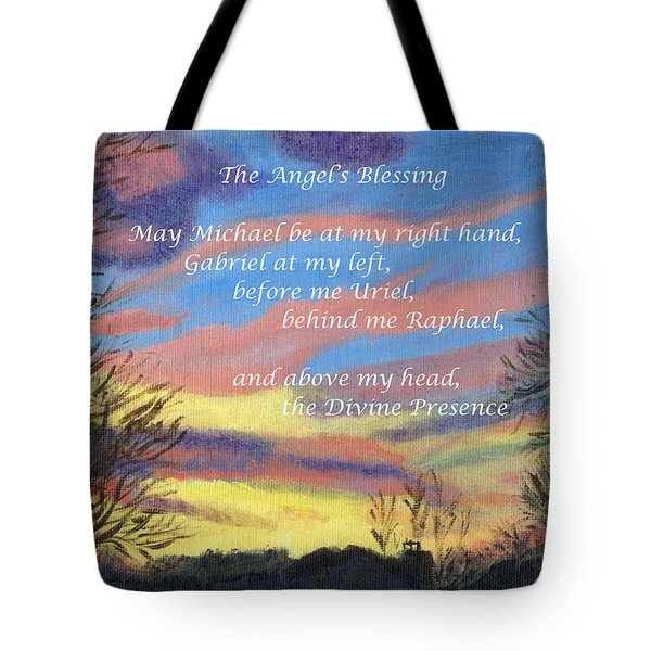 Angel's Blessing Tote Bag