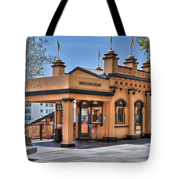 Angels Flight Landmark Funicular Railway Bunker Hill Tote Bag