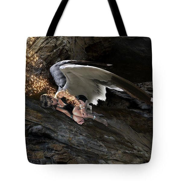 Angels- He Will Bring Peace To Your Heart Tote Bag