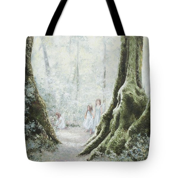 Angels In The Mist Tote Bag