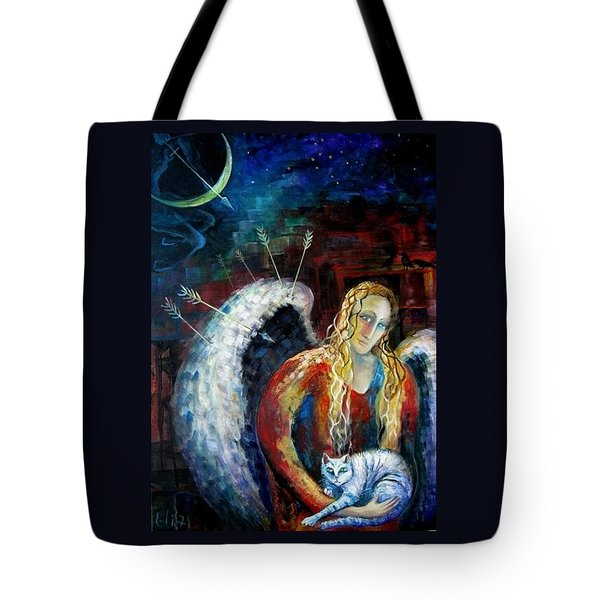Angels Of Zodiac. Sagittarius The Archer Centaur Tote Bag by Elisheva Nesis
