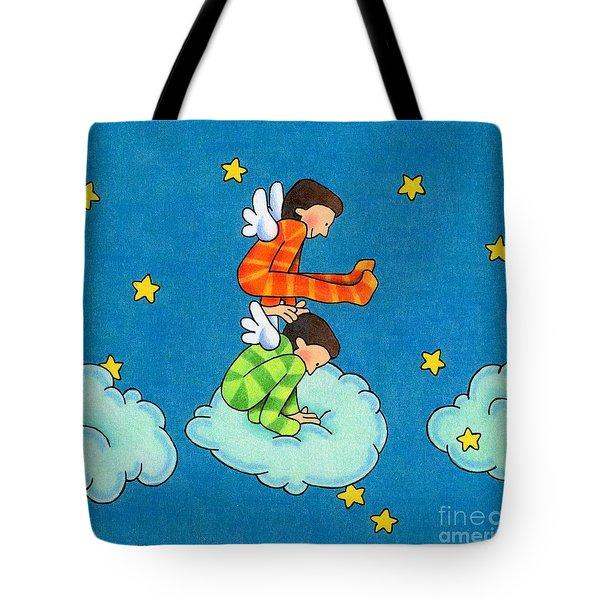 Angels Play Tote Bag by Sarah Batalka