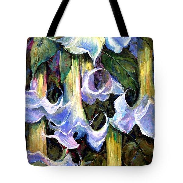 Angel's Trumpets - Floral Art By Betty Cummings Tote Bag by Sharon Cummings