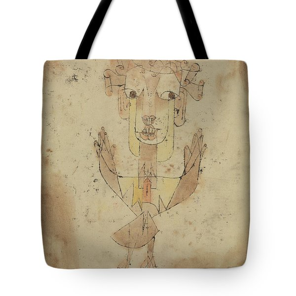 Tote Bag featuring the painting Angelus Novus by Paul Klee