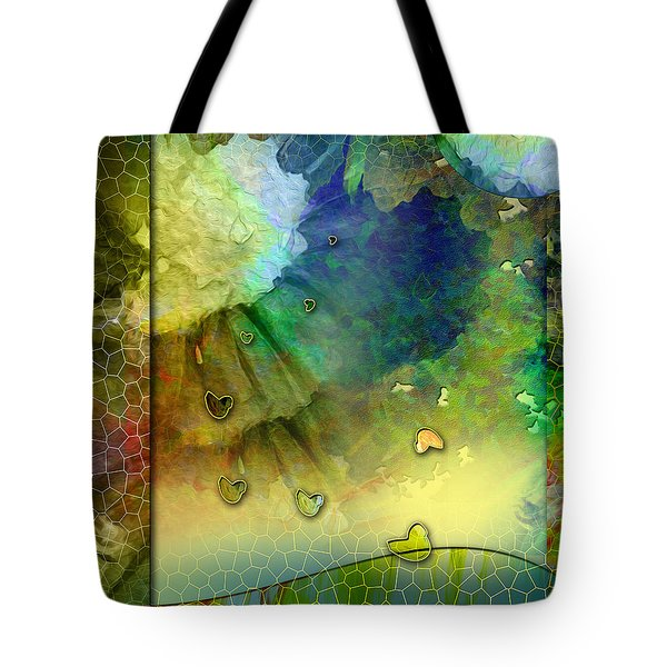 Tote Bag featuring the painting Angiospermae by Allison Ashton