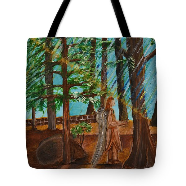 Tote Bag featuring the painting Angle In Idyllwild by Cassie Sears