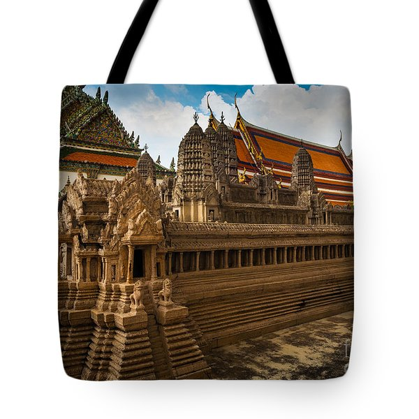 Angor Wat Miniature Tote Bag by Inge Johnsson