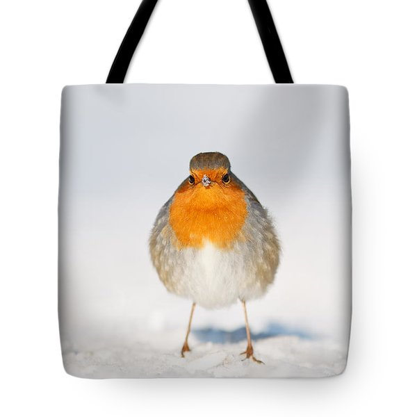 Angry Bird _ Robin In The Snow Tote Bag