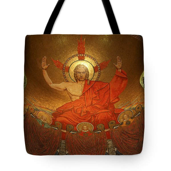 Angry God Mosaic At The Shrine Of The Immaculate Conception In Washington Dc Tote Bag