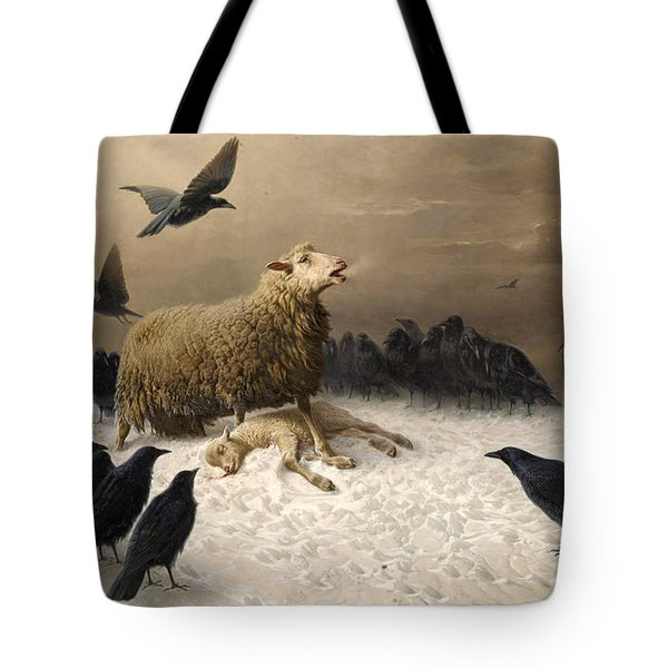 Tote Bag featuring the painting Anguish by August Friedrich Schenck