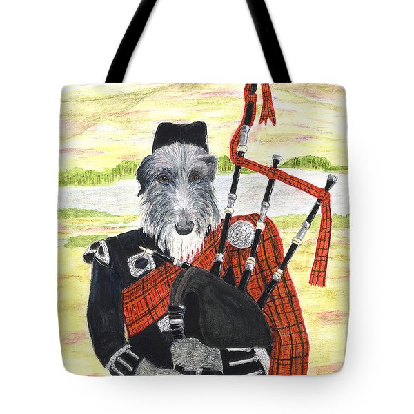 Angus The Piper Tote Bag