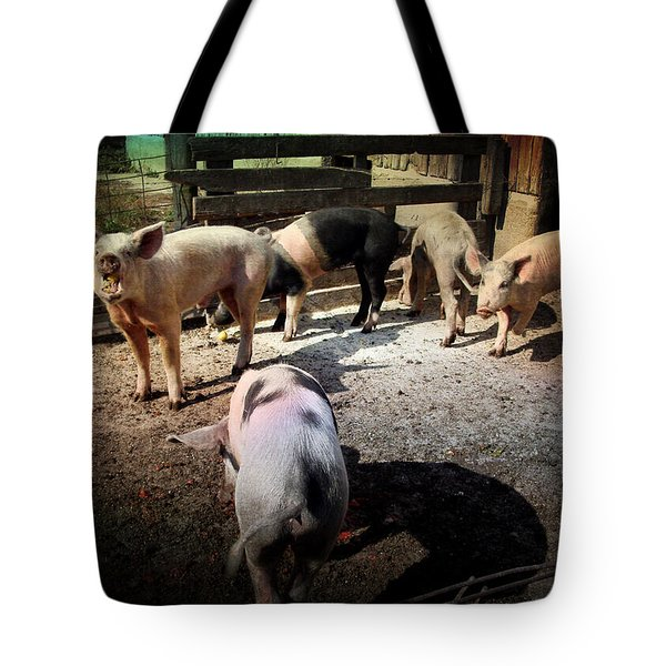 Angustown Piggies Tote Bag by Cynthia Lassiter