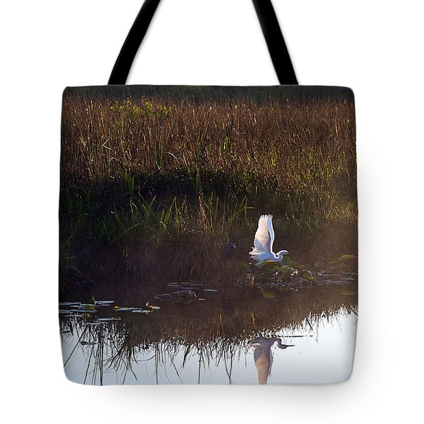 Anhinga Trail Sunrise Tote Bag by Bruce Bain