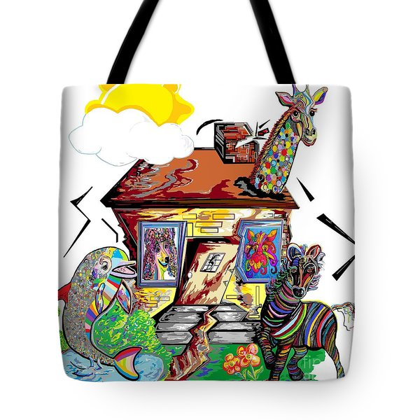 Animal House Tote Bag by Eloise Schneider