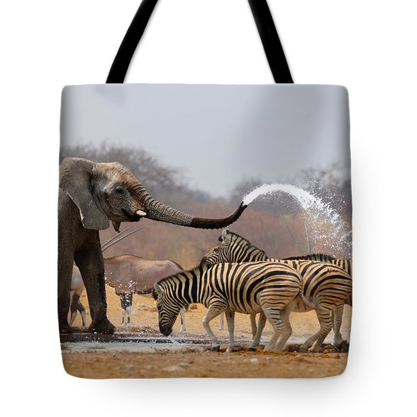 Animal Humour Tote Bag by Johan Swanepoel