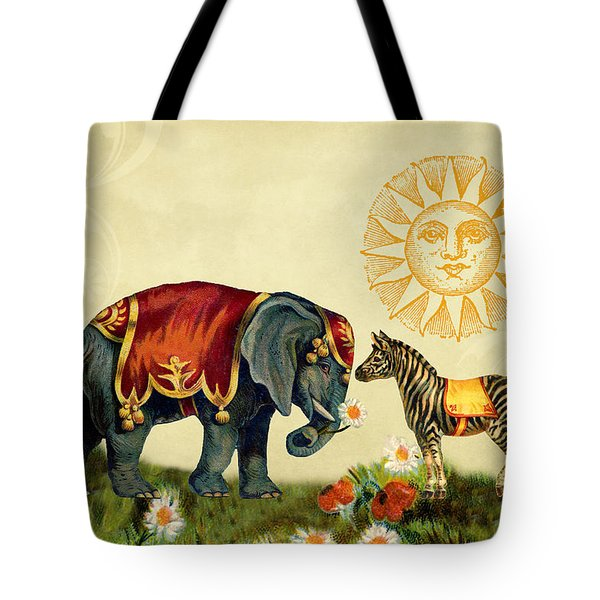Tote Bag featuring the digital art Animal Love by Peggy Collins