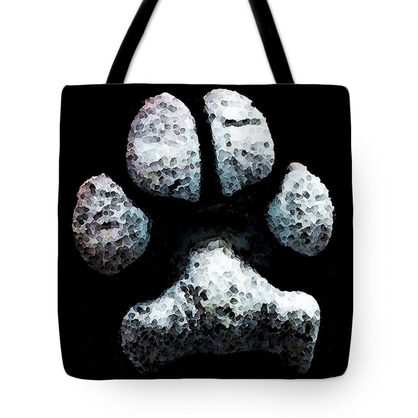 Animal Lovers - South Paw Tote Bag by Sharon Cummings