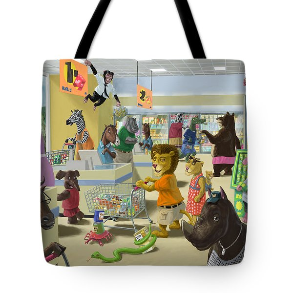 Animal Supermarket Tote Bag