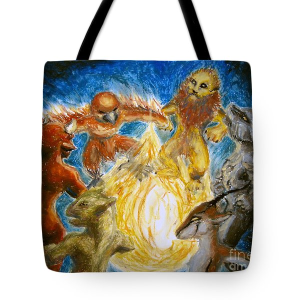 Animal Totem Dancers - Transformed Tote Bag