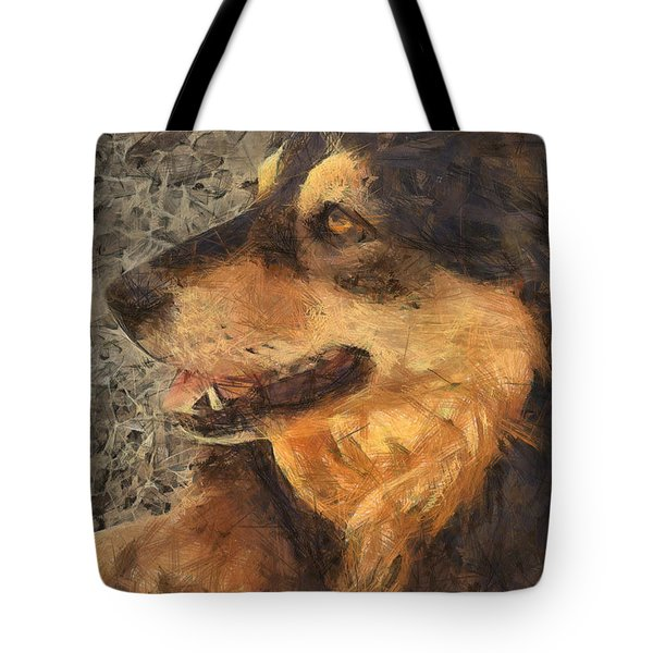 animals - dogs - Faithful Friend Tote Bag by Ann Powell