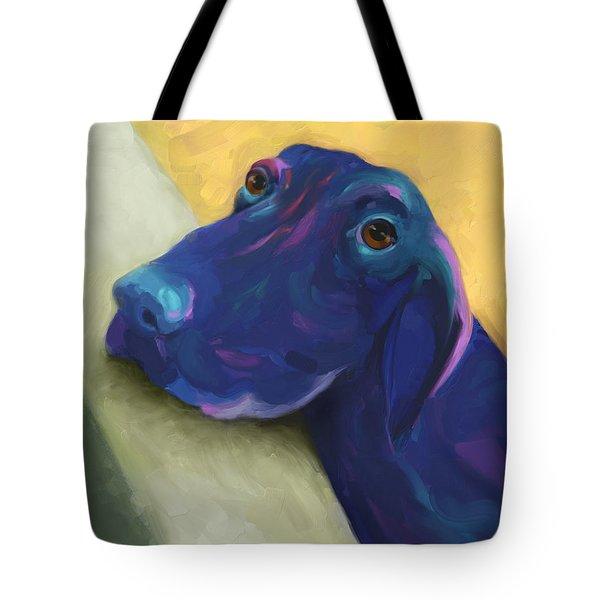 Animals Dogs Labrador Retriever Begging Tote Bag by Ann Powell