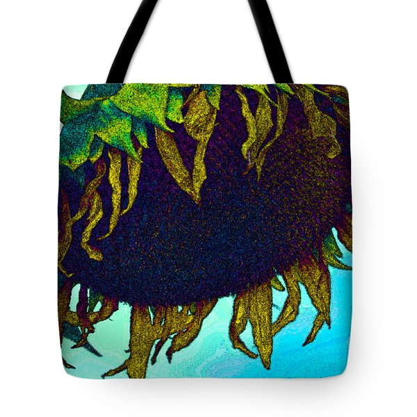 Animated Sunflower Tote Bag