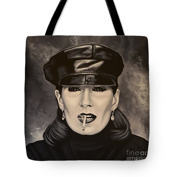 Anjelica Huston Tote Bag by Paul Meijering