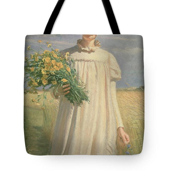 Anna Ancher Returning From Flower Picking, 1902 Tote Bag