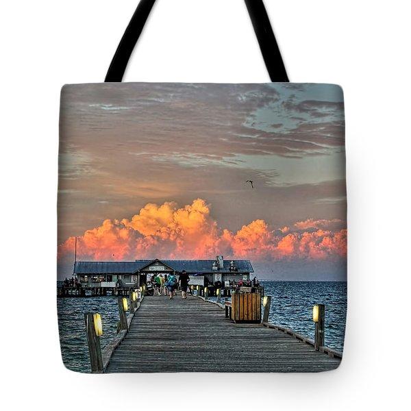 Anna Maria City Pier Tote Bag